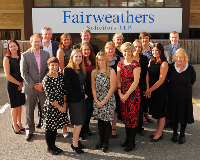 Fairweather's Solicitors team August 2013