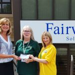 Fairweathers make donation to local food bank